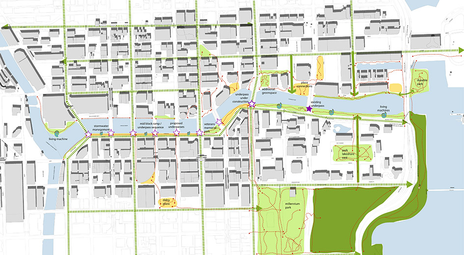 Chicago Riverwalk Framework Plan  TERRY GUEN DESIGN ASSOCIATES
